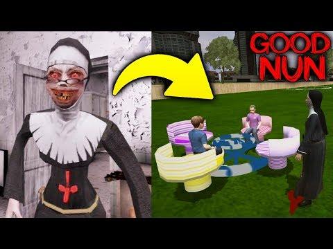 Монахиня Стала Доброй и Играет с Детьми - Good Nun   Evil Nun