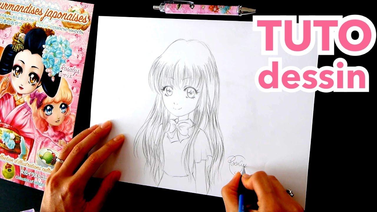 dessin au crayon comment dessiner un visage facile tuto manga youtube. Black Bedroom Furniture Sets. Home Design Ideas