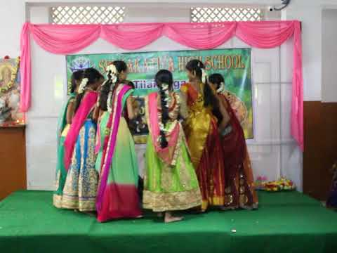 Chinni Maa Bathukamma Performance Sri Kakatiya School
