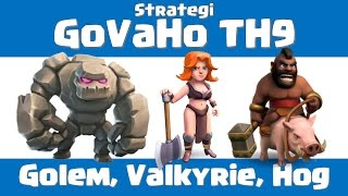Strategi GoVaHo TH9 - Clash of Clans Indonesia Kualitas video baru 1080 60 fps!