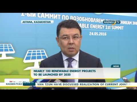 Nearly 100 renewable energy projects to be launched by 2020 - Kazakh TV