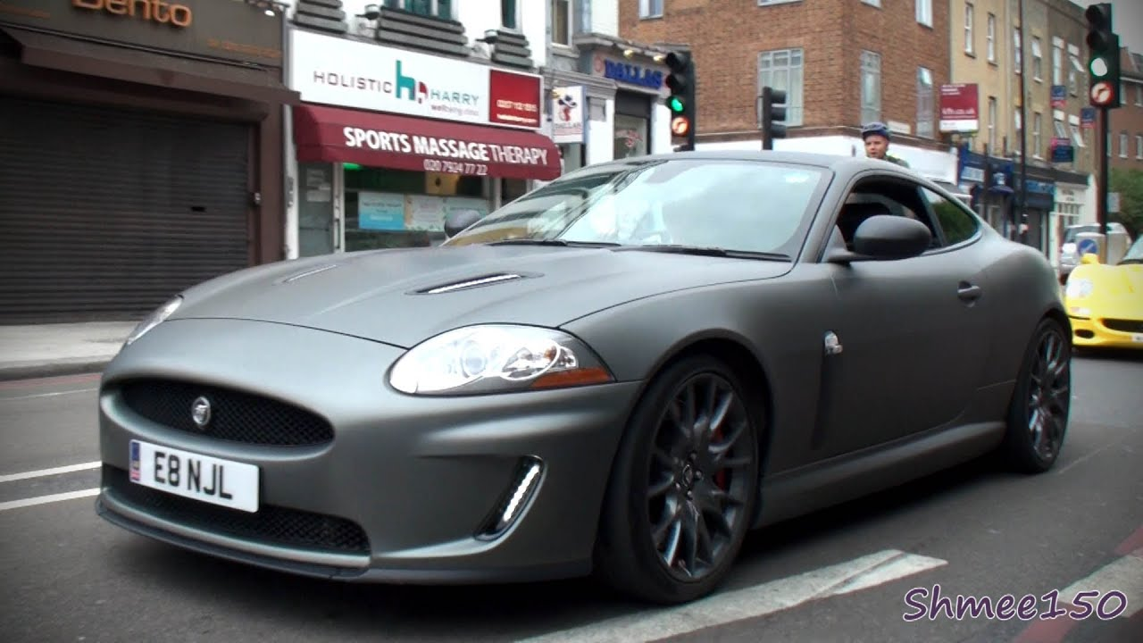Matte Grey Jaguar Xkr S Revs Youtube