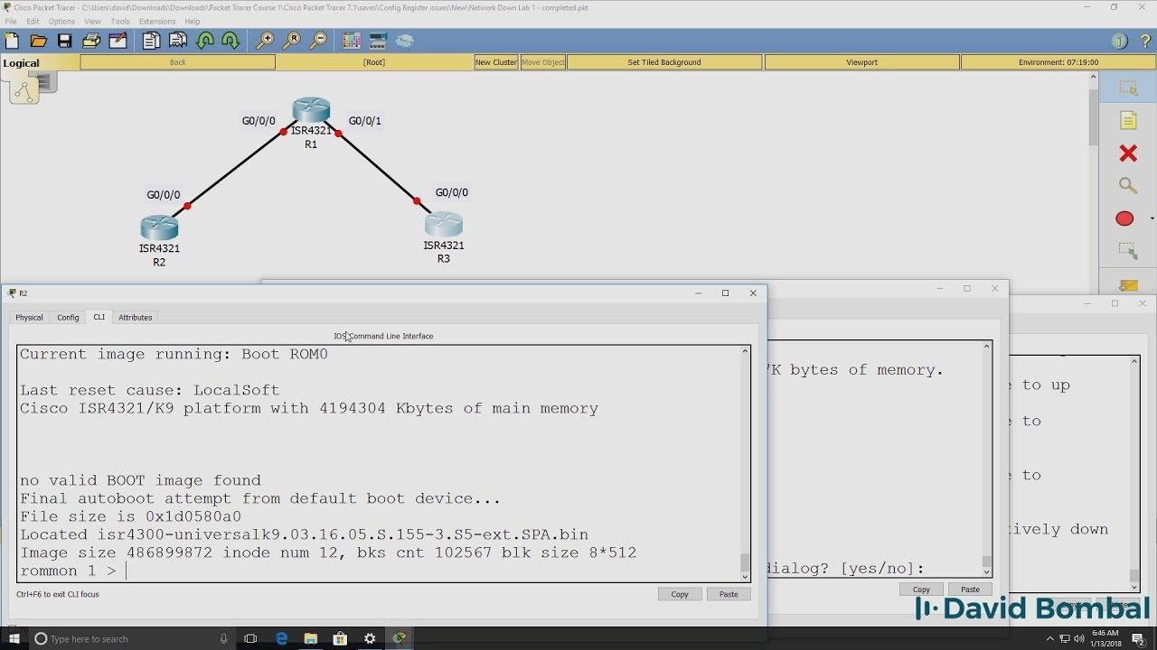 Cisco CCNA Packet Tracer Ultimate labs: Config Register