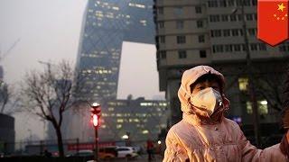 Czerwony alarm smogowy w Pekinie
