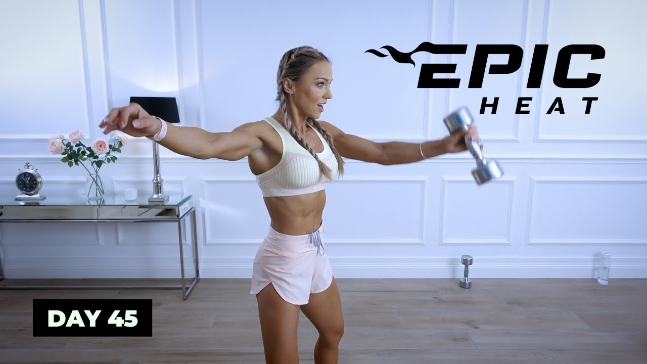 Download DYNAMITE Dumbbell HIIT Workout - Full Body   EPIC Heat - Day 45