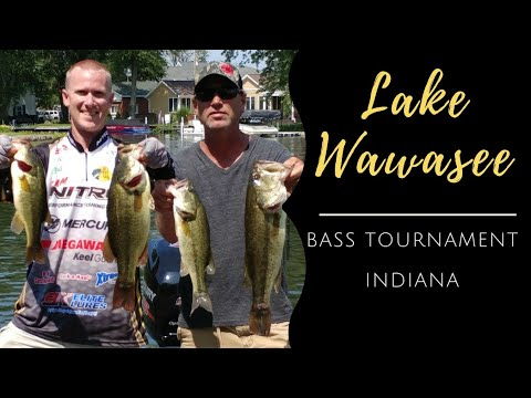 Dock Fishing For Bass On Lake Wawasee During Tournament
