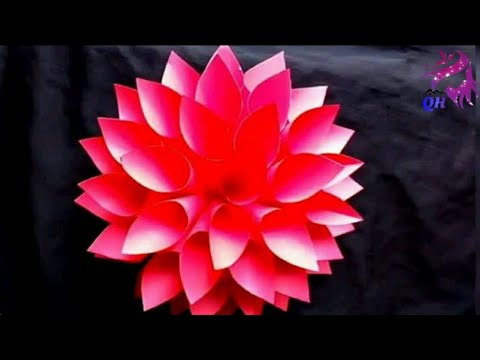 How to make Lotus Flower using Chart Papers | Homemade Products| Queen's home