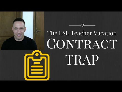 A Common Way English Teachers Abroad are Cheated: The Vacation Day Trick