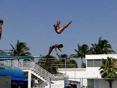 Greg Louganis and Jordan Windle Synchronized Diving