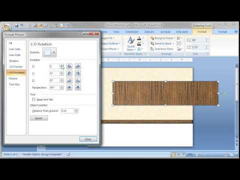 PowerPoint Tutorial Creating Perspective Floor Effect 3D - YouTube