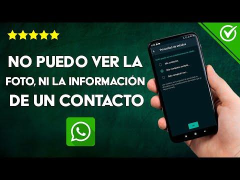 Por qué no Puedo ver la Foto, Estado, ni la Información de un Contacto en WhatsApp