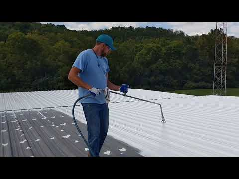 How to clean, prep and repair a metal roof for Silicone Spray roof systems.