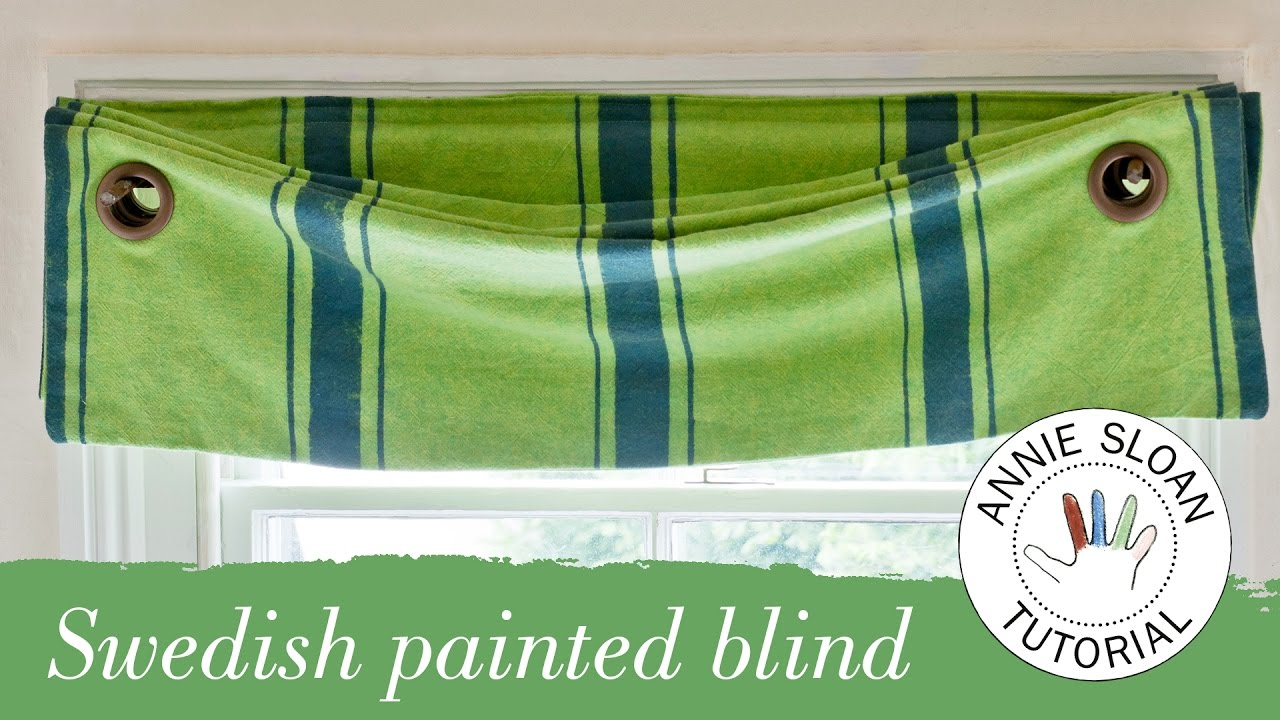 How To Make And Hang A Swedish Blind Youtube