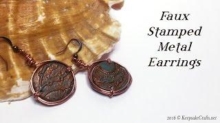 Faux Stamped Metal Earrings-Polymer Clay Tutorial