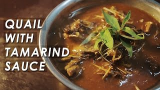 Quail With Tamarind Sauce (Chim Cut Sot Me)  Vietnamese Food