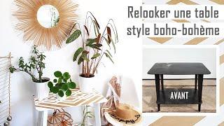 Relooker une table en bois style boho bohème