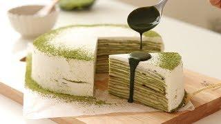 Matcha Mille Crepe|HidaMari Cooking