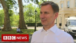 Jeremy Hunt 'disappointed' at leadership contest loss - BBC News