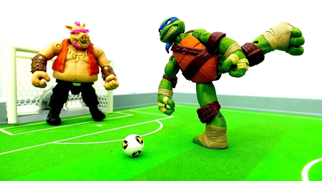Черепашки-Ниндзя, Бибоп и Рокстэди - Драка или Футбол ...