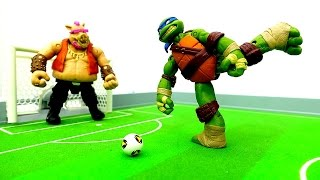 #ЧерепашкиНиндзя vs Бибоп и Рокстэди 💪Драка или Футбол ⚽? Игры #длямальчиков Видео с игрушками