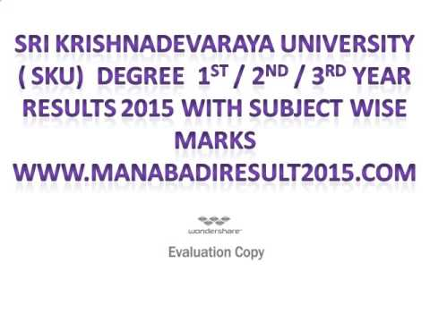 sku degree results