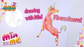 Fireunicorn - drawing with Mia - Mia and me - made 4 kids TV