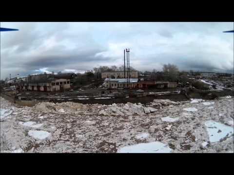 Ледоход на Северной Двине съемка с квадрокоптера
