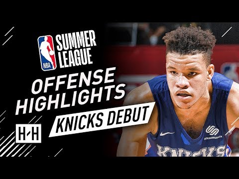 Kevin Knox Full Offense & Defense Highlights at 2018 NBA Summer League - New York Knicks Debut!