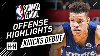 Kevin Knox Full Offense & Defense Highlights at 2018 NBA Summer League - New York Knicks Debut!