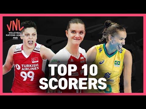 Top 10 Scorers | Women's VNL Volleyball 2019