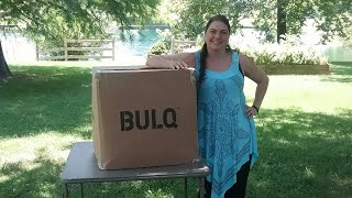 Bulq.com Unboxing July 2017 Unidentified Returns clothing $170.00 Box