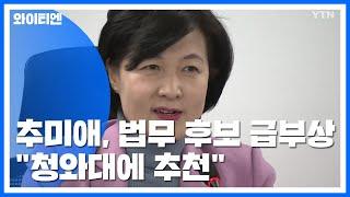 """추미애, 법무장관 후보자 급부상...""""靑에 의견전달"""" / YTN"""