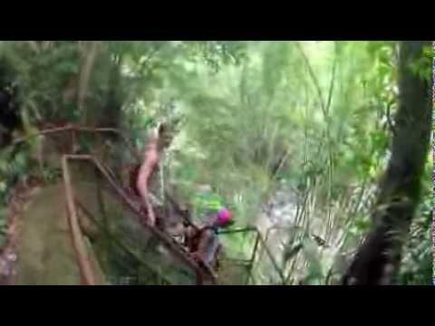 Waterfall hike, Negros Oriental, Philippines