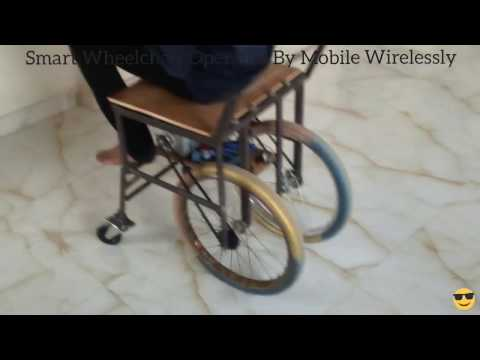 Smart Wheelchair Operated by Mobile Wirelessly electrical electronics engineering project