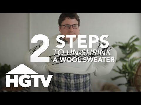 How To Un Shrink A Wool Sweater Hgtv Youtube
