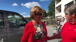 Trude Drevland ankommer Storefjell