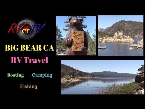RV Travel...Big Bear Lake California...Around Town...Big Bear Lake Dam...The Village..Full Time RV