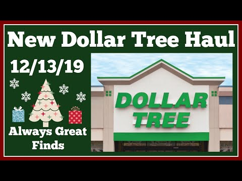 New Dollar Tree Haul 12/13/19 Always Great Finds