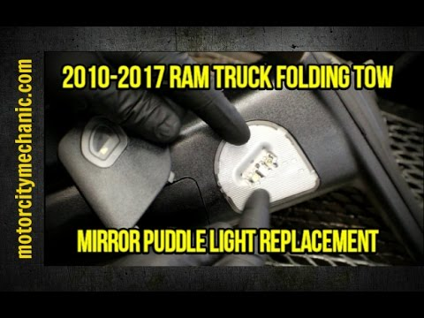 2010 2017 Ram Truck Folding Tow Mirror Puddle Light Replacement