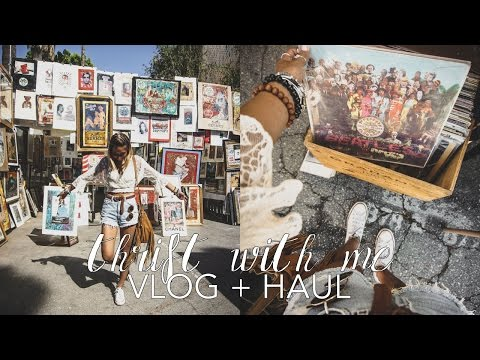 Come Thrifting With Me // Vlog + Haul (Melrose Trading Post)