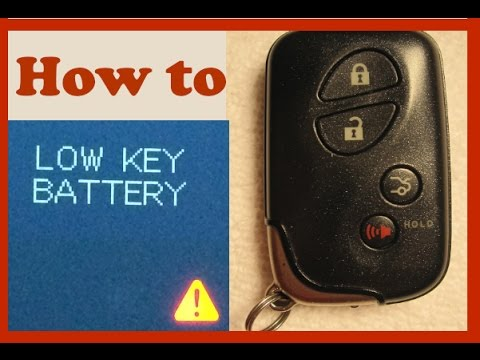 Lexus IS250 - Replace key battery - YouTube