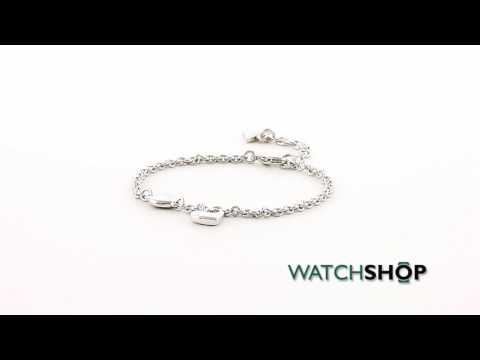 Guess Jewellery Ladies' Rhodium Plated Heart Devotion Bracelet (UBB82057-L)