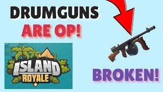 I tried out the DRUM GUN In ROBLOX and it's OP!!