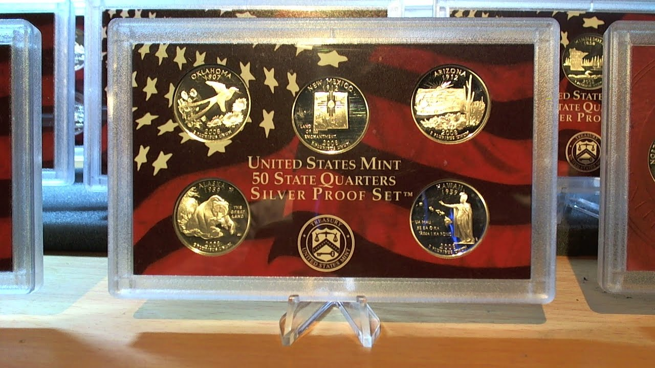 United States Mint States Quarters Silver Proof Set Complete - Complete 50 state quarter set