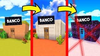 ¡PASAMOS DE BANCO NOOB A BANCO PRO! 💎💰 ¿CUAL ES EL BANCO MÁS SEGURO DE MINI WORLD?