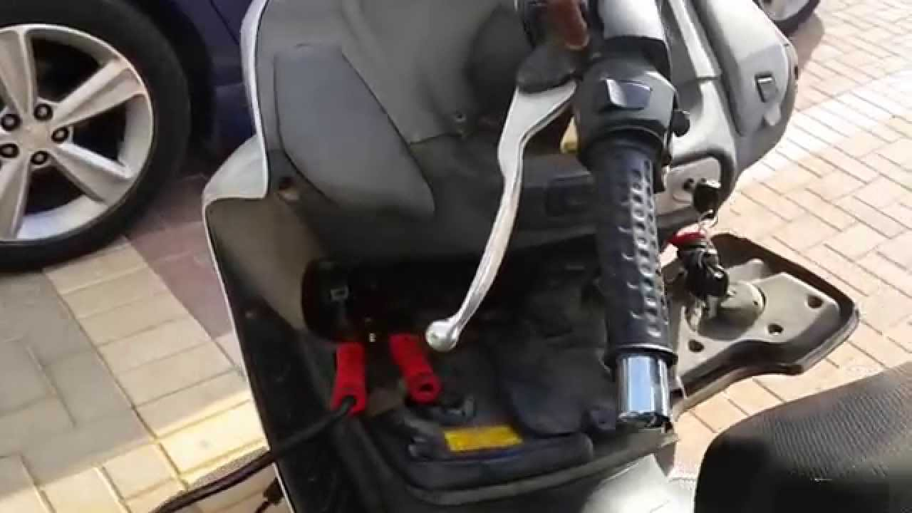how to jump start scooter joymax 250 with dead battery youtube. Black Bedroom Furniture Sets. Home Design Ideas