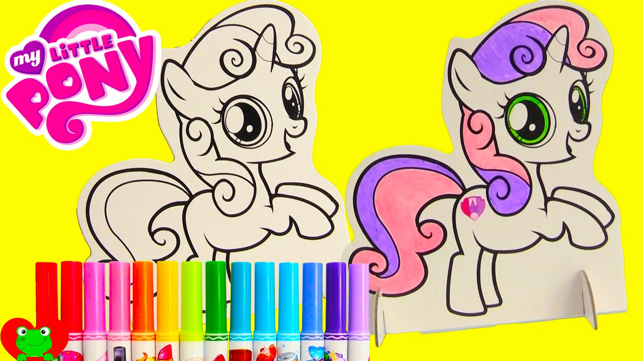 My Little Pony Sweetie Belle Pop Outz Crayola Coloring And Surprises Youtube