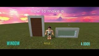 How to Make Doors and Windows! | ROBLOX F3X
