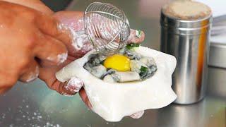 Taiwan Street Food - Fried Oyster Balls  牡蠣球 / 蚵仔球 / カキボール / 굴 공