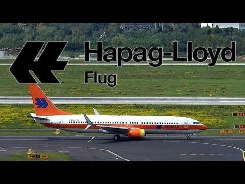 Hapag-Lloyd Retro-Livery | TUIfly Boeing 737 takeoff at DUS Airport | D-ATUF | 08.05.2015